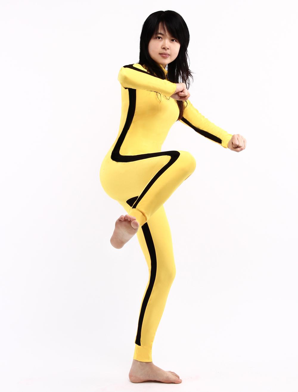 Zentai Suit Yellow Lycra Spandex Unisex Bodysuit For Halloween Morphsuits Halloween