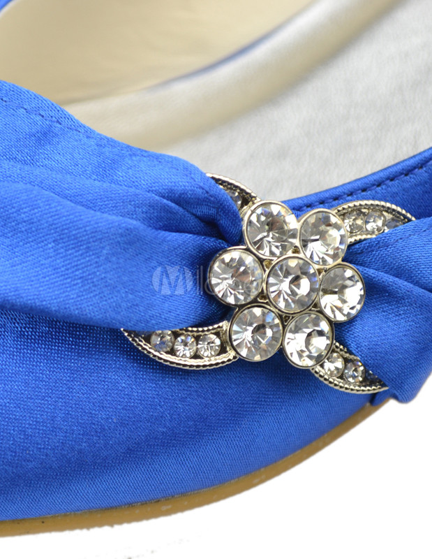 ... Sweet Pleated Satin Flat Bridal Wedding Shoes No.13