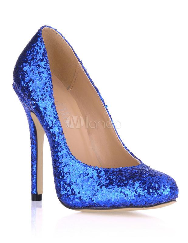... Escarpins à talons aigus sexy bleus à bout pointu-No.3 ...