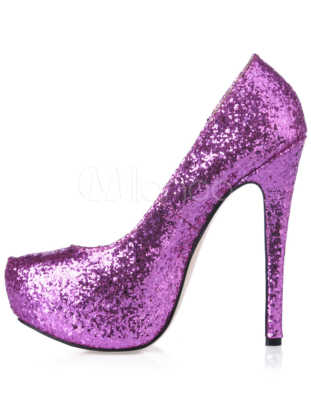 Platform Stiletto Heel Sequin PU Womens Shoes - Milanoo.com bb685ffdb0
