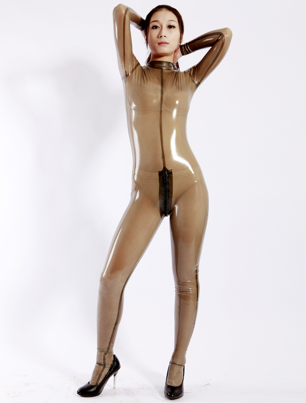 Clear latex clothing