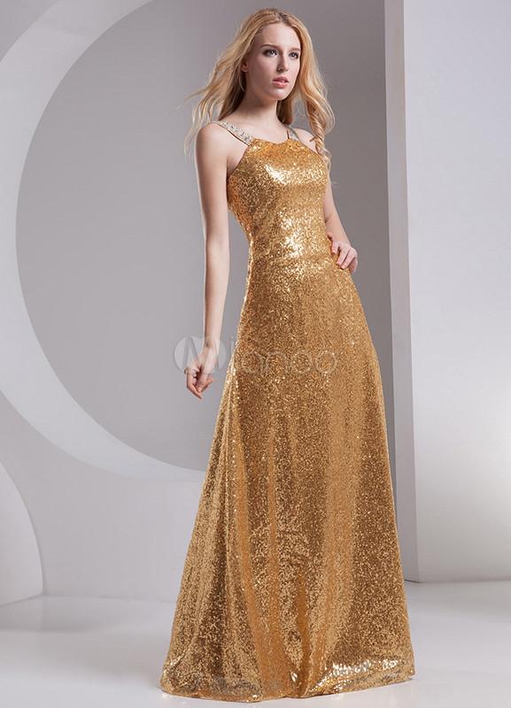 Vestidos de graduacion color dorado