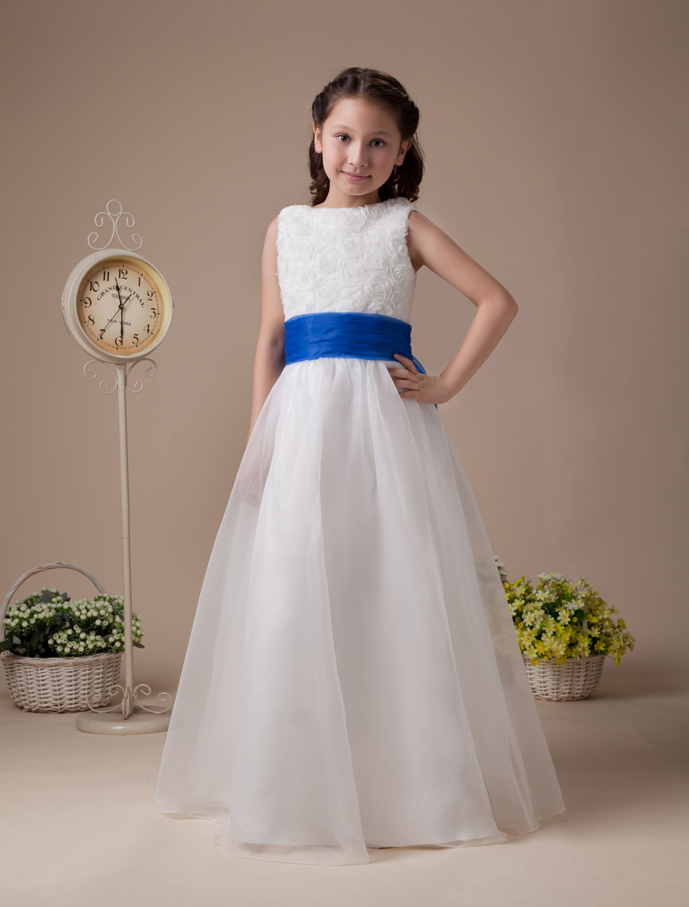 Sweet White Soft Organza Flower Girl Dress