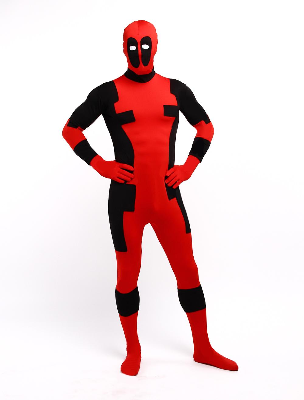 Halloween Deadpool Zentai Suit Lycra Spandex Superhero Full Bodysuit Halloween