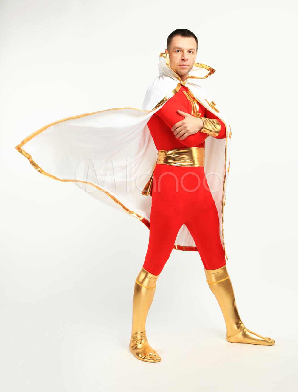 Halloween Red Lycra Spandex Lightning Zentai Suit Halloween