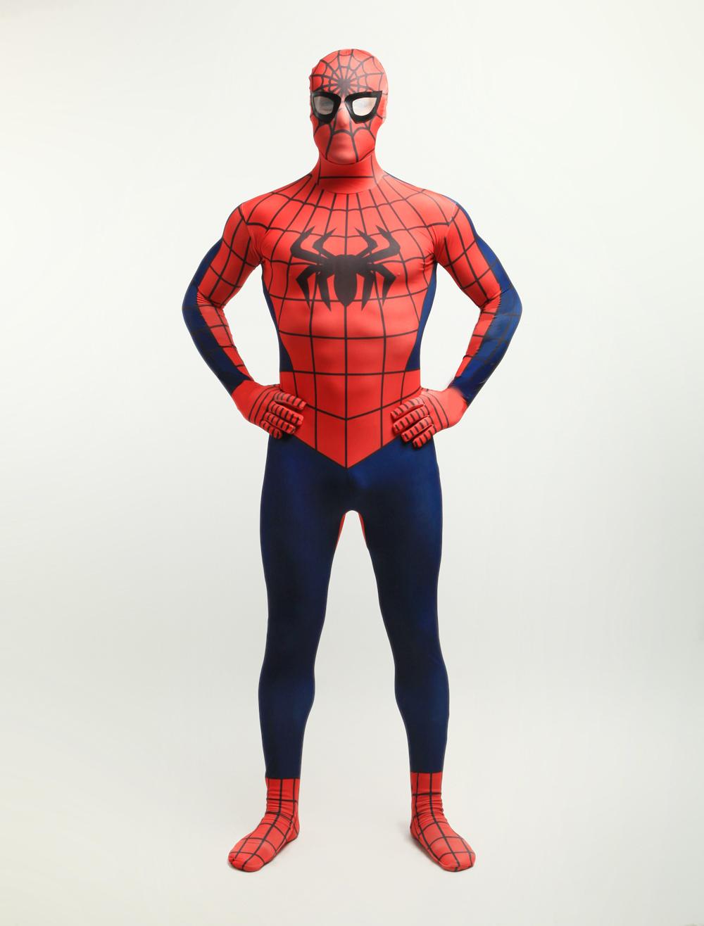 Halloween Spiderman Zentai Suit Lycra Spandex Super Hero Full Bodysuit Halloween