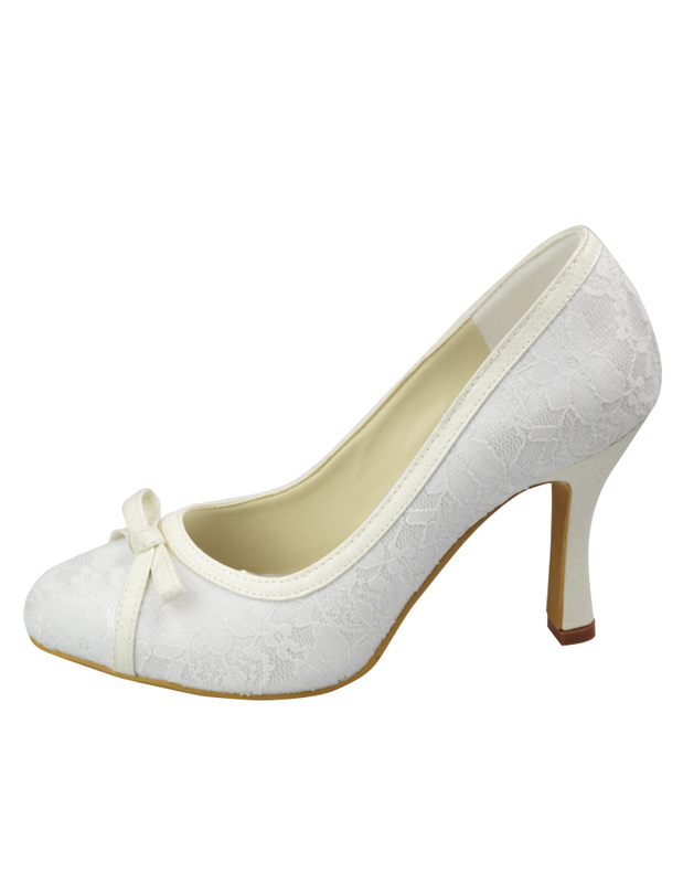 3c4420bc8c8971 White Satin High Heel Wedding Shoes - Milanoo.com
