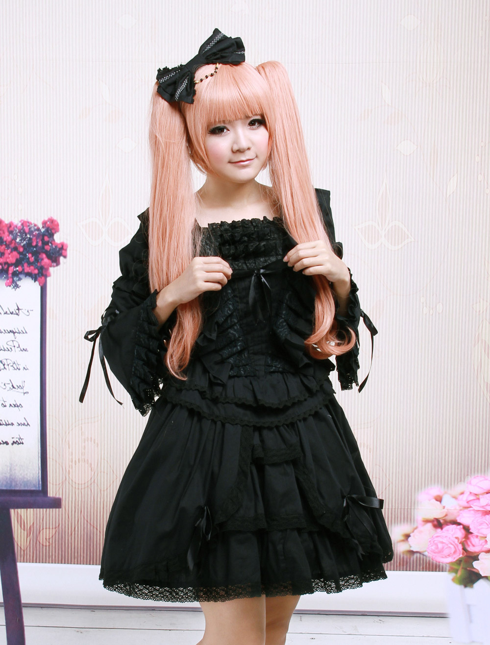 Lace cotton gothic lolita dress - Div position bottom ...