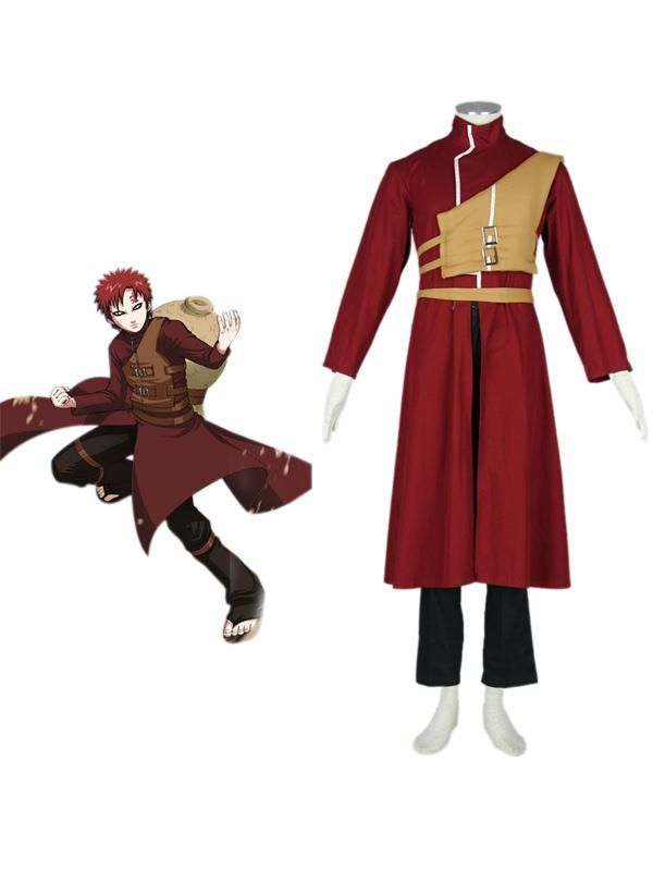 Naruto Shippuden Gaara Red Cosplay Costume Halloween