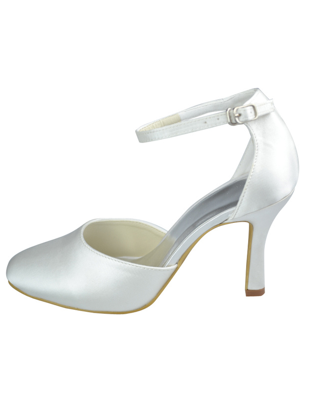 Pointed Toe Strappy Satin Bridal Shoes