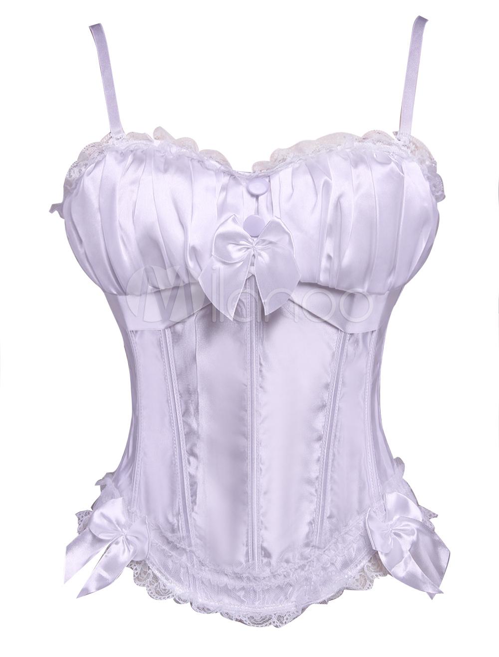 Popular White Elastic Silk Womens Corsets