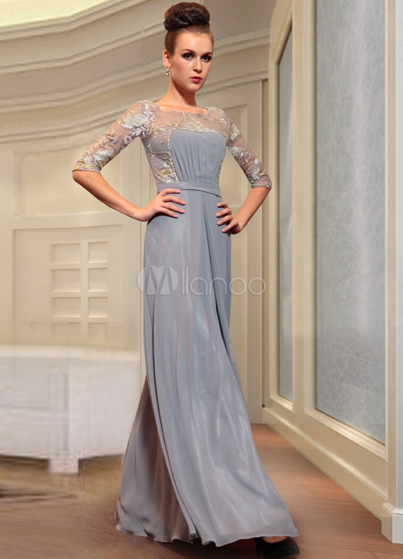 Slate Grey Evening Dresses
