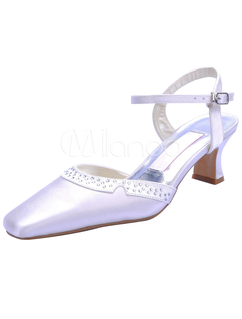 42ca821e5d55 ... Toe Sandals Wedding Shoes With Bowknot Missydress. Previous Next. image  0 · vintage white satin low heel wedding shoes no 4 ...