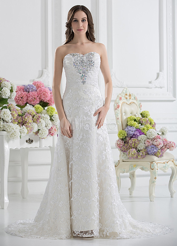 A-line Sweetheart Wedding Gown