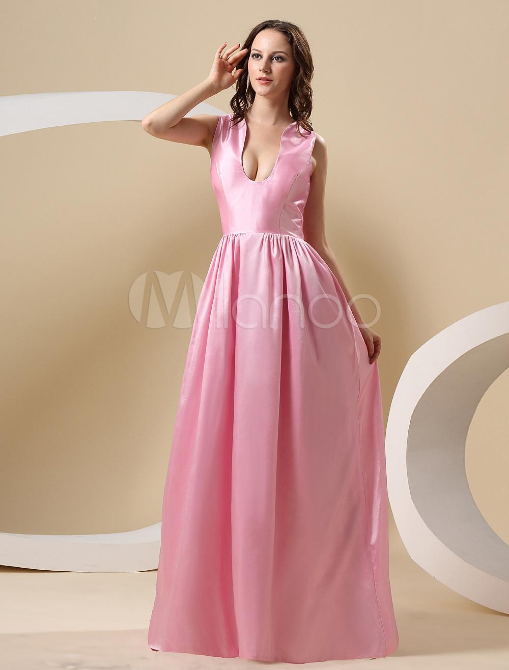 Vestido de Festival de Cannes de tafetán rosado de estilo elegante ...