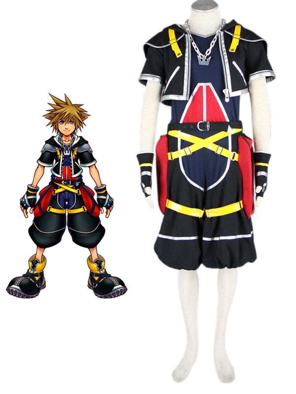 Kingdom Hearts Sora Halloween Town Costume.Kingdom Hearts Sora 1th Cosplay Polyester Cosplay Costume Halloween