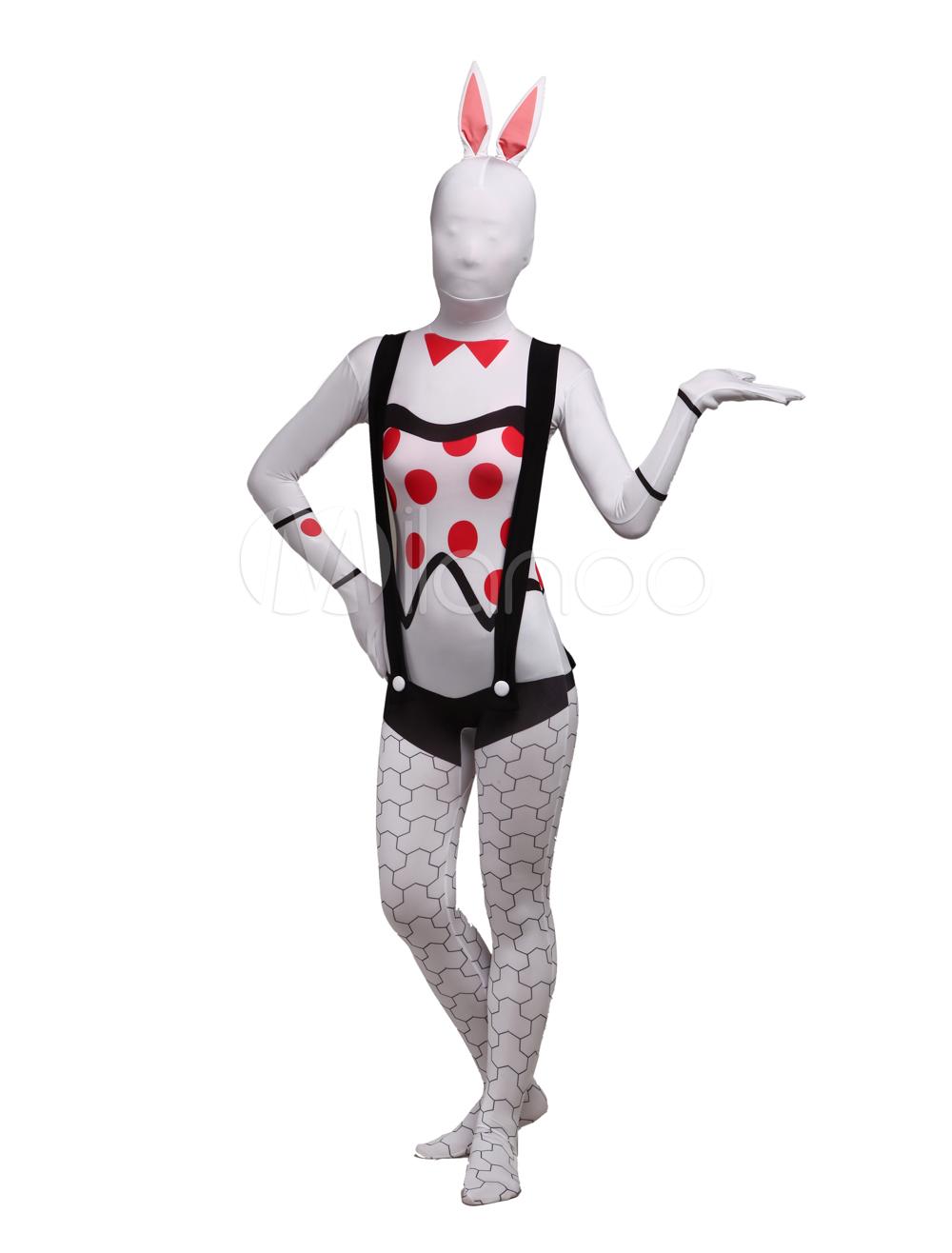 Halloween Bunny Girl Unisex Lycra Spandex Cool Multicolor Zentai Suits Halloween