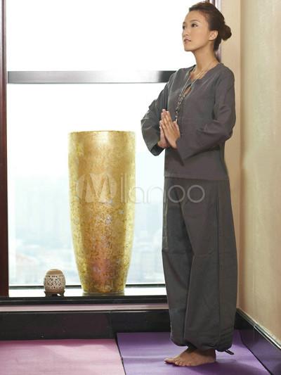 Tenue de yoga femme élégante blanche 55% coton ddcf92806ca