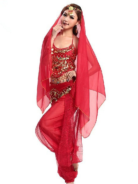 Belly Dance Costume Chiffon Halloween Bollywood Dance Outfit