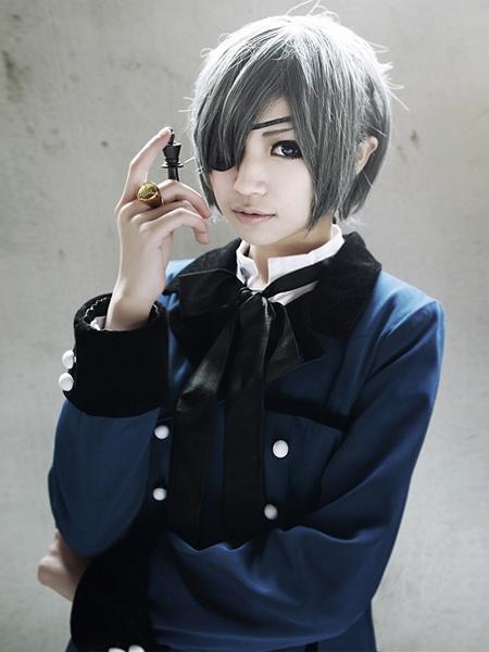 Black Butler Kuroshitsuji Ciel Phantomhive Halloween Cosplay Costume Blue Uniform  Halloween