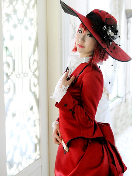 Black Butler Madam Red Angelina Dalles Cosplay Costume Halloween