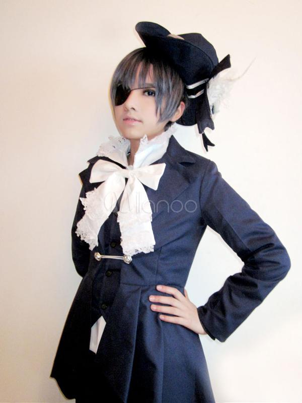 Black Butler Kuroshitsuji Ciel Phantomhive Cosplay Costume Halloween