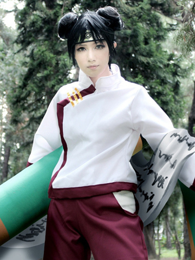 Buy Naruto Tenten 2nd Polyester Cosplay Costume Halloween for $55.19 in Milanoo store