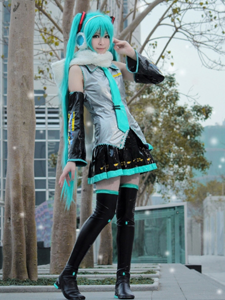 Vocaloid Hatsune Miku Anime Halloween Cosplay Costume Halloween