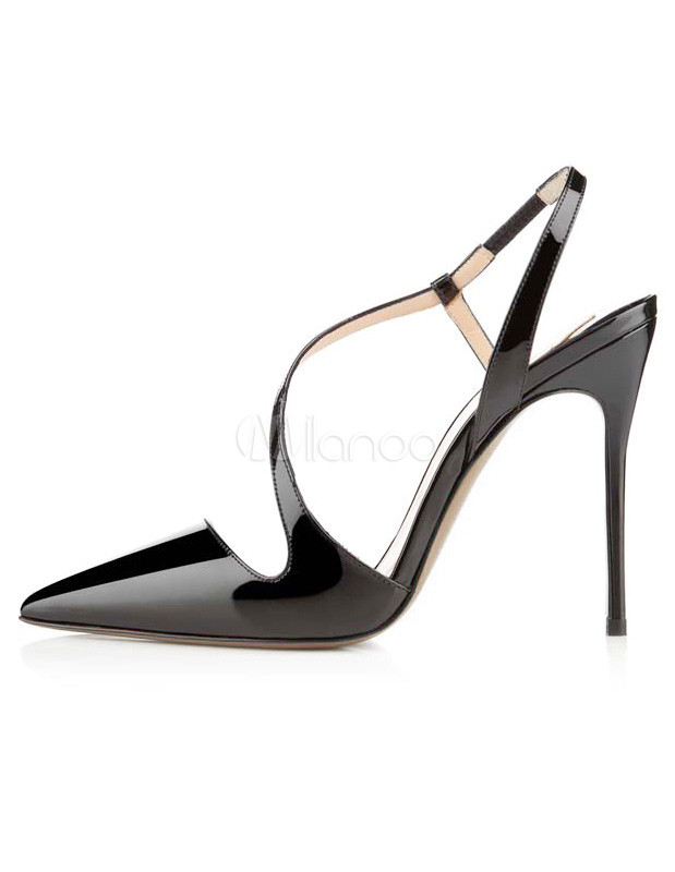 d41e9620b48 Black Strappy Stiletto Heel Fashion Dress Sandals - Milanoo.com