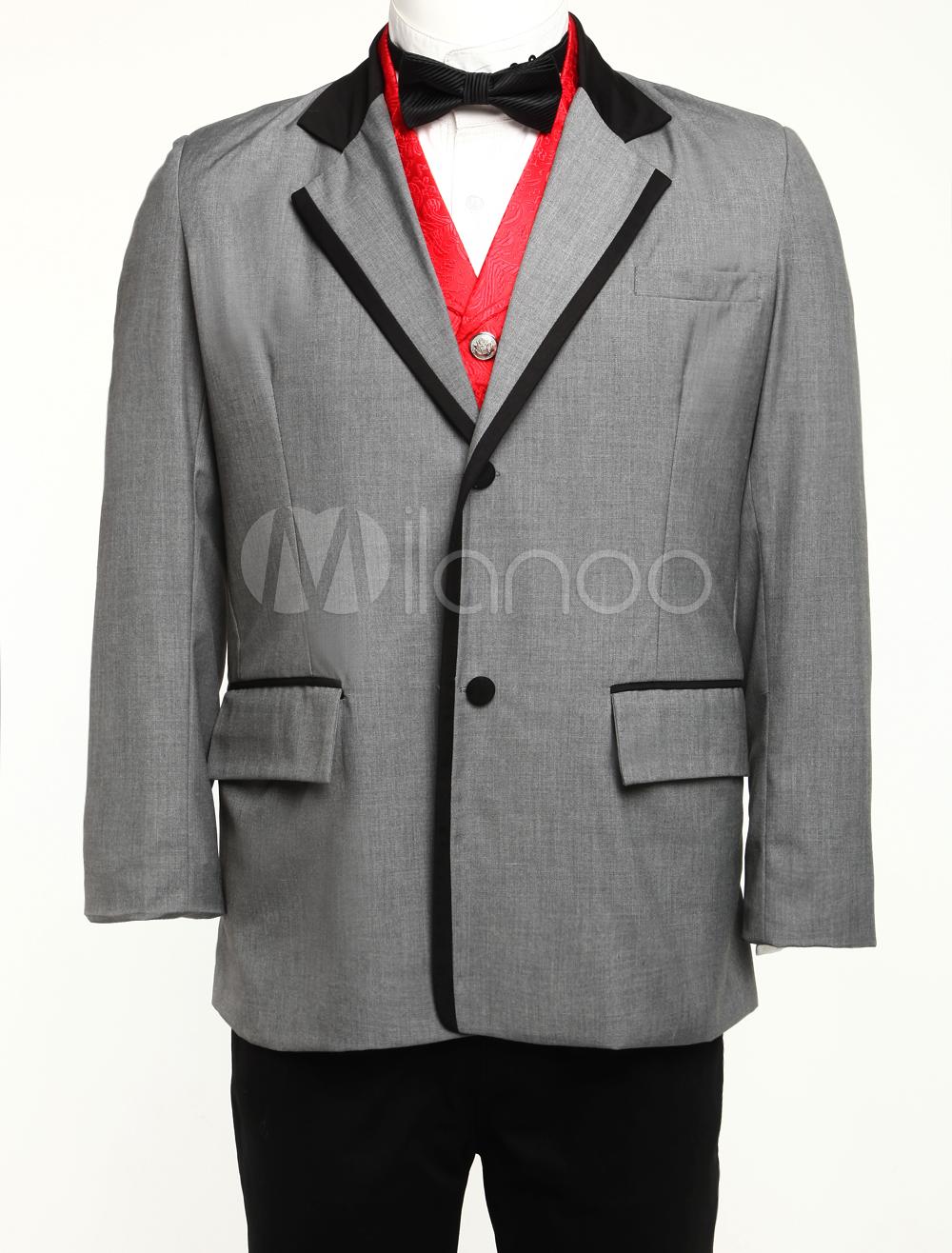 Buy Vintage Coat Costume Men's Victorian Era Retro Overcoat Halloween for $90.99 in Milanoo store