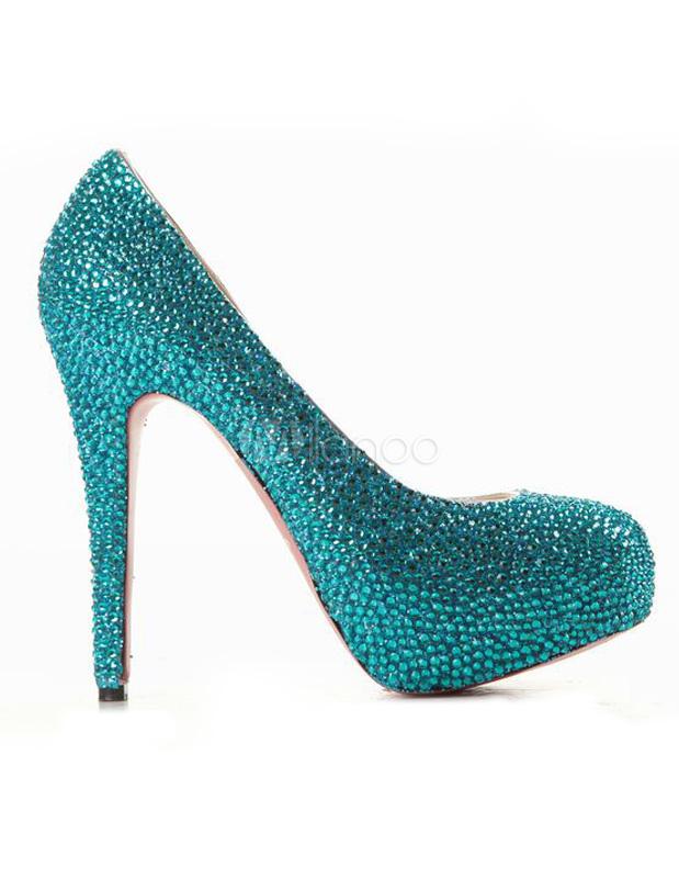 796048e89f8 ... Silver High Heels Platform Rhinestones Slip On Party Shoes Women  Evening Shoes-No.6 ...