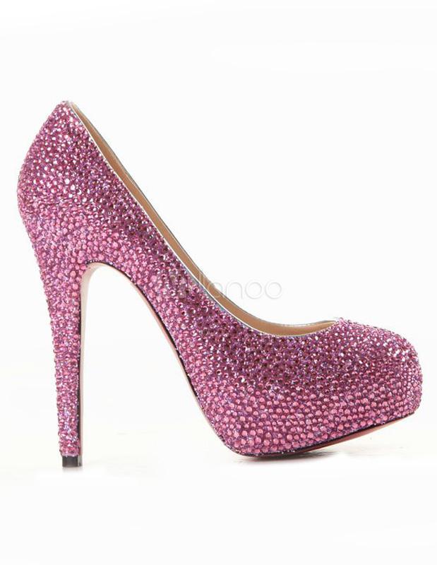 0d05e978468 ... Silver High Heels Platform Rhinestones Slip On Party Shoes Women  Evening Shoes-No.7 ...