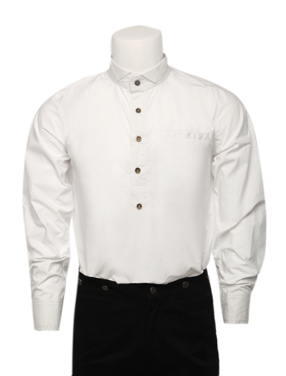 Buy Men's Vintage Costume Victorian White Shirt Retro Costume Top Halloween for $61.99 in Milanoo store