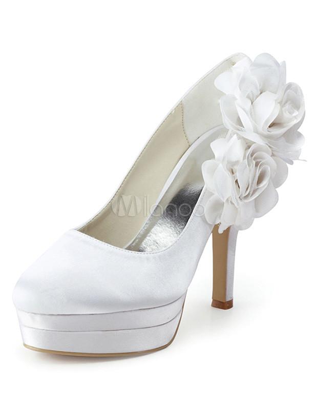 zapatos con plataforma para novias con flores de de tacón de de aguja e58e7a