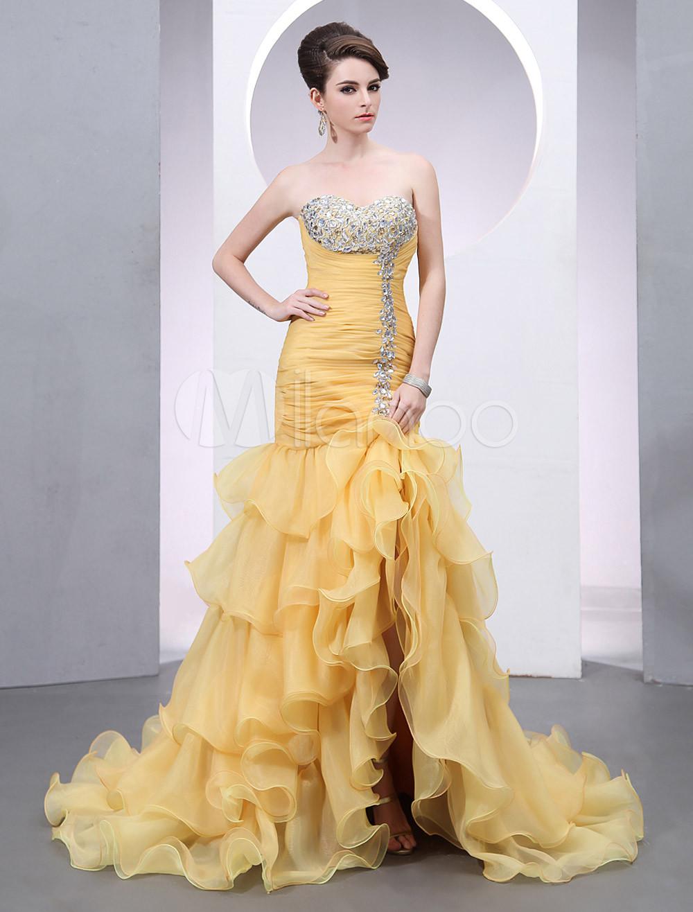 Beautiful Gold Prom Dresses