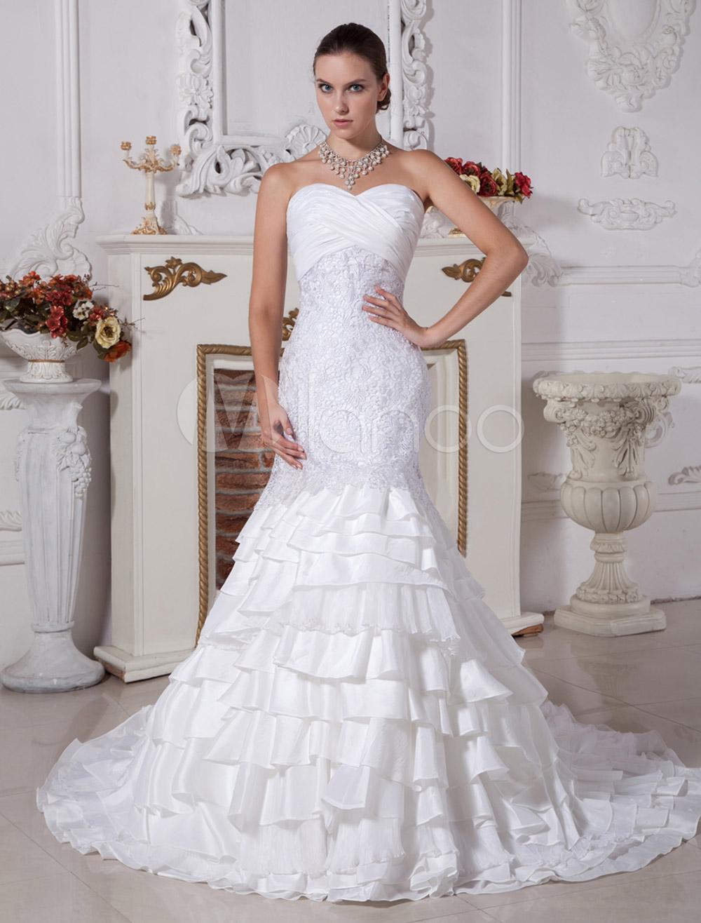 Taffeta Trumpet Wedding Dress
