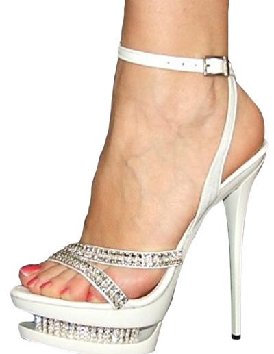 Platform Patent Leather Sandals