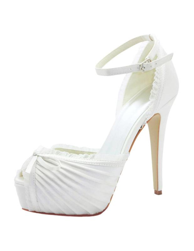 2c4f69bbae1 Bows Platform Bridal Sandals Chic Evening High Heels - Milanoo.com