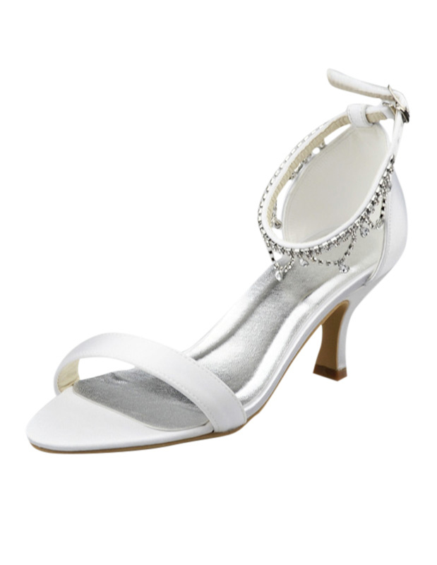 Charming Silk And Satin Stiletto Heel Women's Dress Sandals