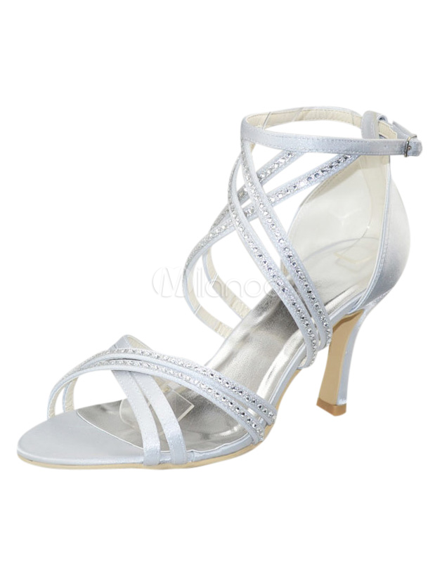 Elegant Stiletto Heel Open Toe Wedding Shoes