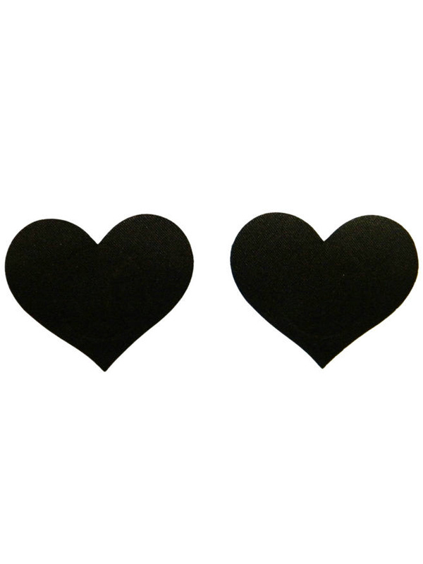 Black Heart Shape Matte Satin Women's Pasties Cheap clothes, free shipping worldwide
