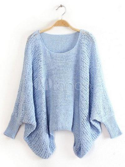 Cotton Blend Knit Sweet Women's Pullover