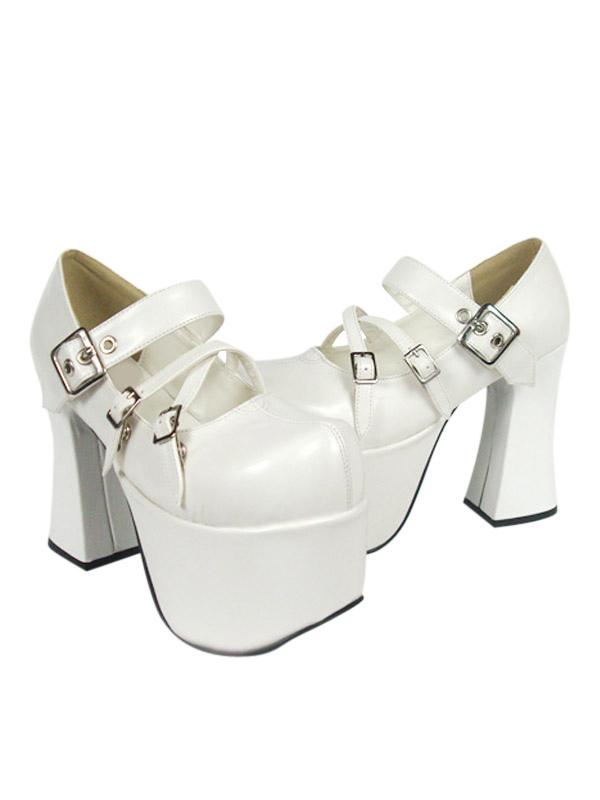 Zapatos blancos de lolita con plataforma de estilo dulce 2mBhU2k6