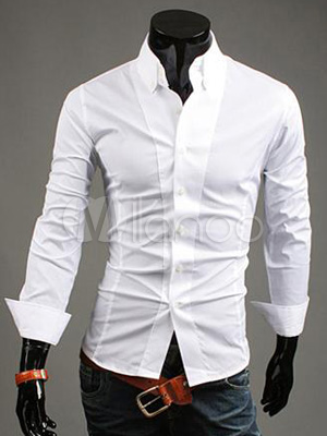 Pure Shirt Turndown White Collar With FKJ3Tcl1