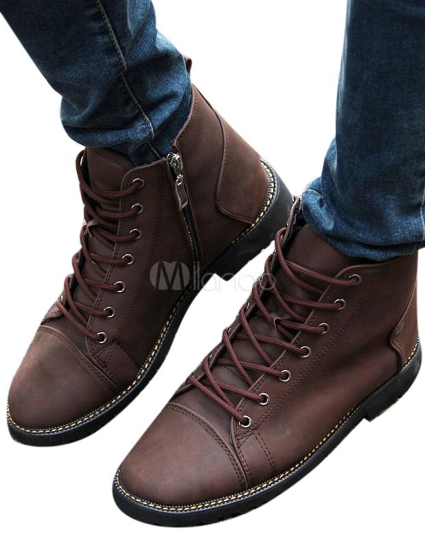 0be9f878ec2c boots homme cuir lacet