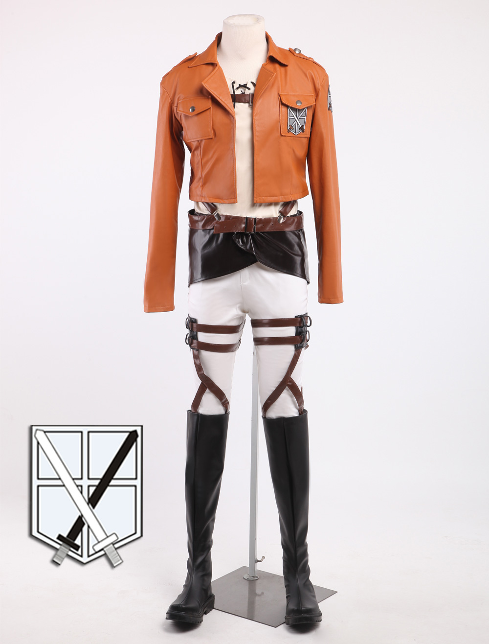 Buy Attack On Titan Eren Jaeger Cosplay Costume Shingeki No Kyojin Halloween Trainning Corps Cosplay Costume Without Boots Halloween for $192.99 in Milanoo store