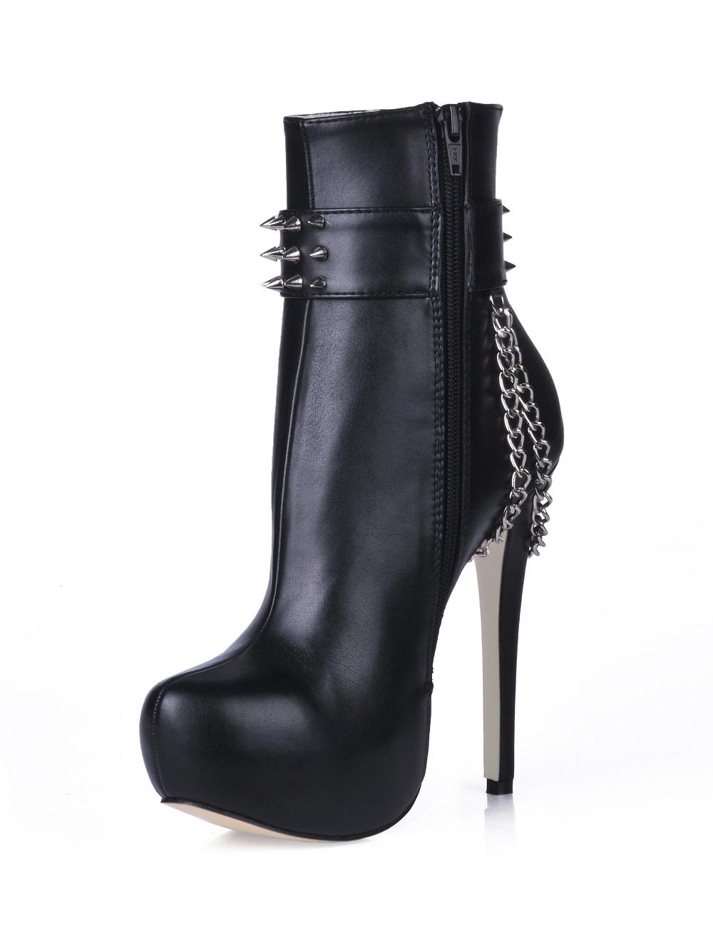 ankle boots platform heel