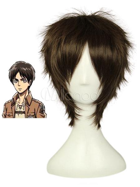 Buy Attack on Titan Shingeki no Kyojin Eren Jaeger Halloween Cosplay Wig Halloween for $22.79 in Milanoo store