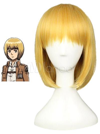 Attack on Titan Shingeki no Kyojin Armin Halloween Cosplay Wig Halloween