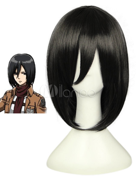 Attack on Titan Shingeki no Kyojin Mikasa Ackerman Cosplay Wig Halloween